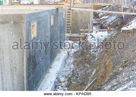 Concrete Foundation For A New House Stock Photo Royalty