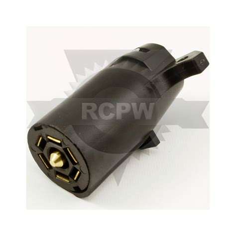 buyers tc2007p 7 pin flat plastic trailer end connector