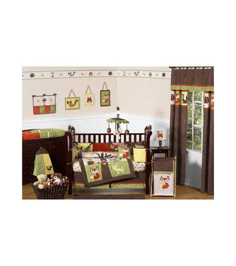 forest crib bedding sweet jojo designs forest friends 9 crib bedding set