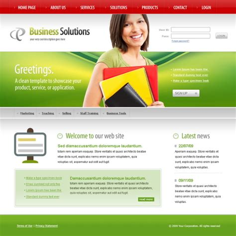 education website templates free html with css acdemic css template 6137 education website