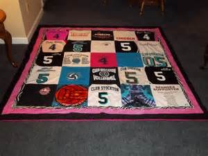 blanket made out of my s jerseys and t