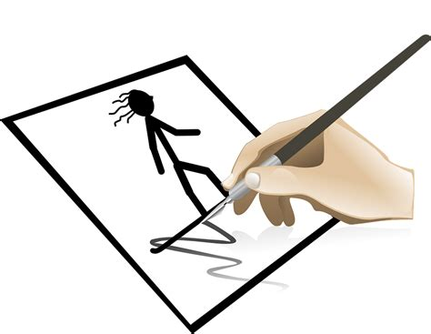 Drawing Clip Pictures stick figure pen 183 free vector graphic on pixabay