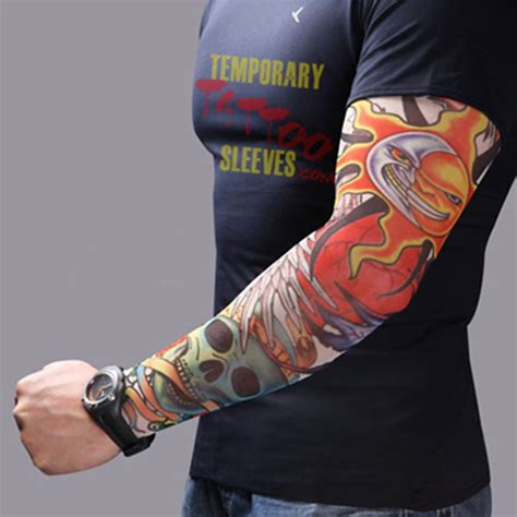 Tattoo Arm Protector | men women nylon tattoo arm sleeves elastic cool uv sun