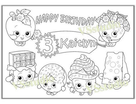 shopkins birthday coloring page shopkins birthday party favor shopkins coloring pages