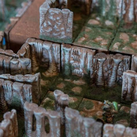 printable caverns dungeon tiles wall section