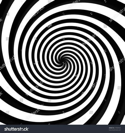 black white black white spiral background stock illustration 27690520