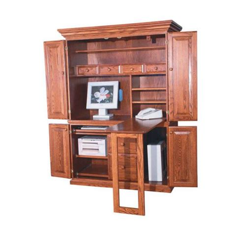 excellent computer armoire plans for home office