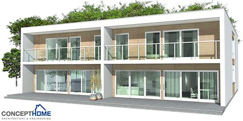contemporary duplex house plans duplex house plan ch159d in modern architecture house plan