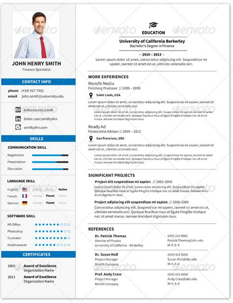 Modelo De Curriculum Vitae Profesional 2014 Las Mejores Plantillas De Curriculums Vitae Creativos