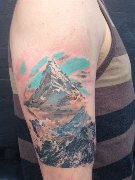 moutain tattoo lonely mountain hobbit tattoos