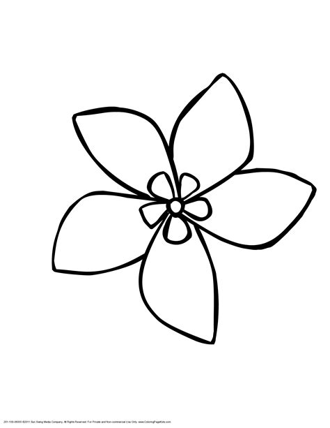 clipart of flowers coloring pages coloring flower clipart 58