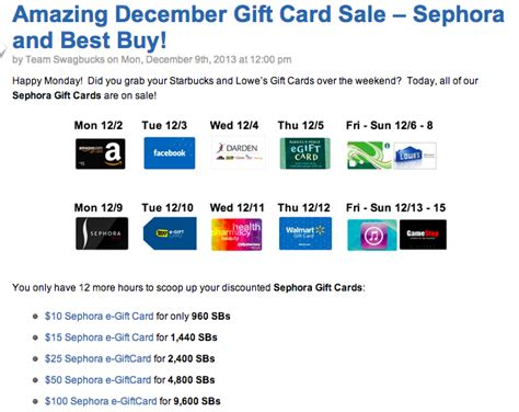 Sephora Gift Card Sale - re swagbucks sephora gift cards on sale beautytalk