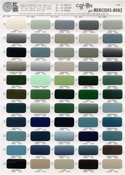 mercedes ponton paint codes color charts 169 www