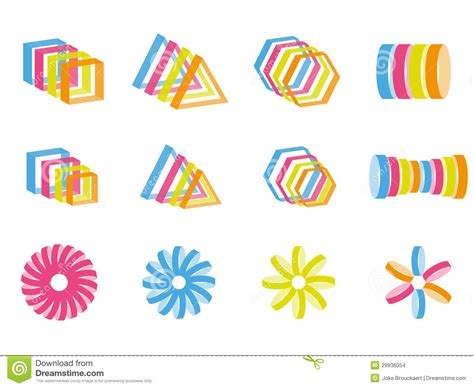 creative patterns using geometric shapes creative color design elements stock images image 29936054