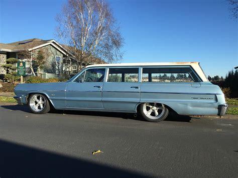 64 Chevy Impala Station Wagon Chagne 1964 Chevrolet Belair Station Wagon Original With