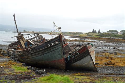 old vintage boat old fishing boats photo