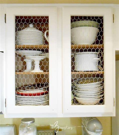 Chicken Wire Kitchen Cabinets by Kitchen Cabinet Facelift Part 1