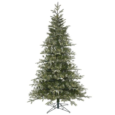 6 5 foot frosted pasco mix christmas tree warm white led
