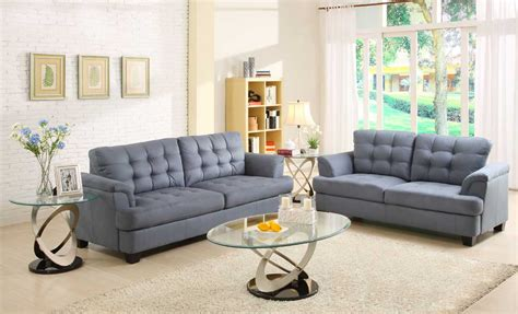 Grey And Blue Sofa Homelegance St Charles Sofa Set Blue Gray U9736 3