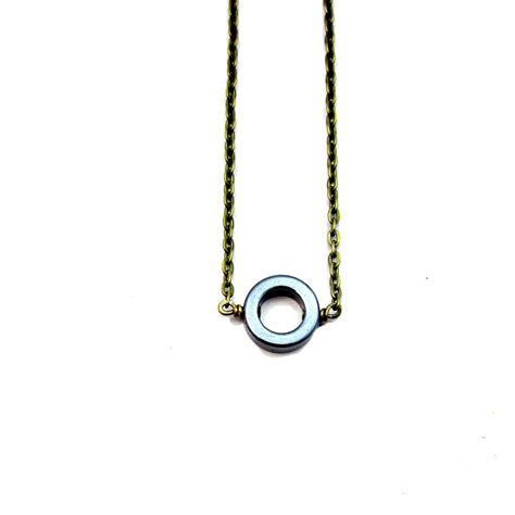 brass chain for jewelry adjustable rustic brass chain necklace with hematite ring
