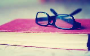 Glasses on book hd wallpapers