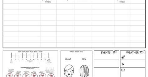 free printable migraine journal headache diary free printable useful for tracking down