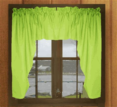 lime green window curtains solid lime green swag window valance