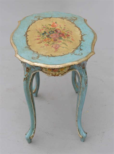 painted accent table hand painted venetian accent table at 1stdibs