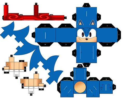 Papercraft Sonic - classic running sonic the hedgehog by mikeyplater