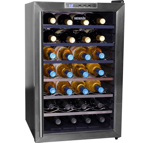 Wine Rack Cooler newair thermoelectric wine cooler chrome plated wine racks