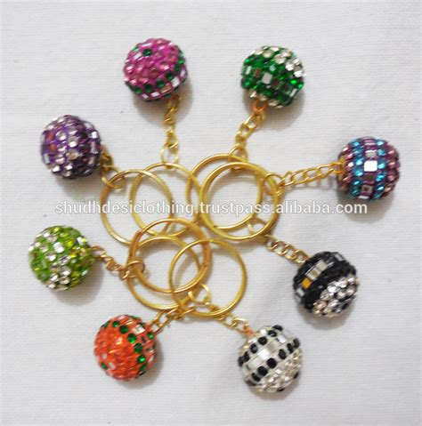 Handmade Keyrings - handmade small keyrings skirt or sari waist hanger key
