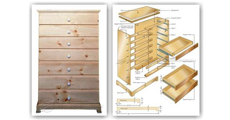 Chest Of Drawers Plan chest of drawers plans woodarchivist
