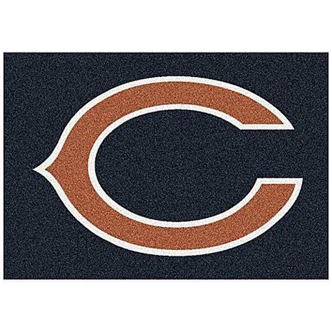 chicago bears rugs nfl chicago bears team spirit rug bed bath beyond