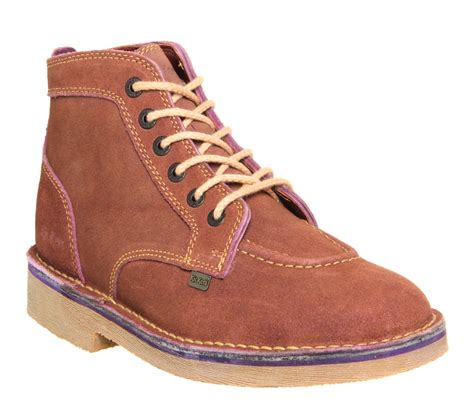 kickers legendary boots brown suede boots
