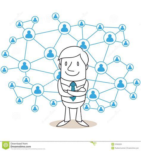 businessman social network stock  image