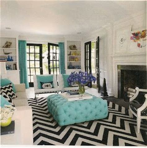 Turquoise And Black Living Room - turquoise black white living room a interior design