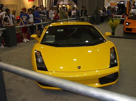 yellow lamborghini front front view yellow lamborghini dallas car show 2004 car