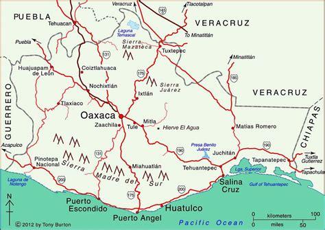 oaxaca mexico map map of oaxaca mexico world map 07
