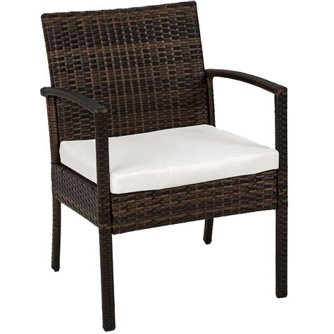 Poly Rattan Garden Furniture 2 Chairs Bench Table Set Poly Wicker Outdoor Furniture
