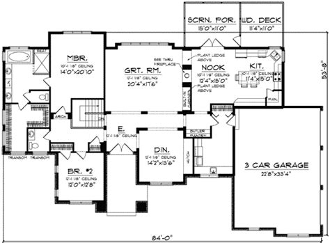 prairie style floor plans architecture plan unique design of prairie style house