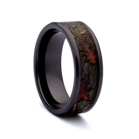 Titanium Rings by Camo Wedding Rings Black Titanium Wedding Bands By 1 Camo