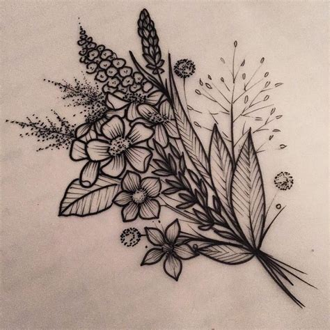 bouquet of flowers tattoo 25 best ideas about flower bouquet on