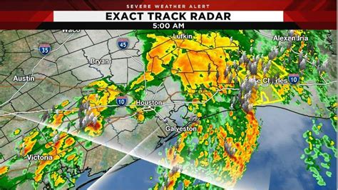 strong   storms pass  houston sunny day