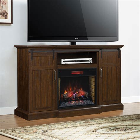 Infrared Media Fireplace by 68 25 Quot Manning Saw Cut Espresso Infrared Media Electric Fireplace