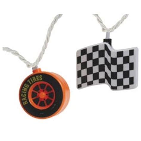 Racing Tires Checkered Flags Party String Lights String Lights For Cing