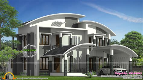 curved roof house designs curved roof house plan kerala home design and floor plans