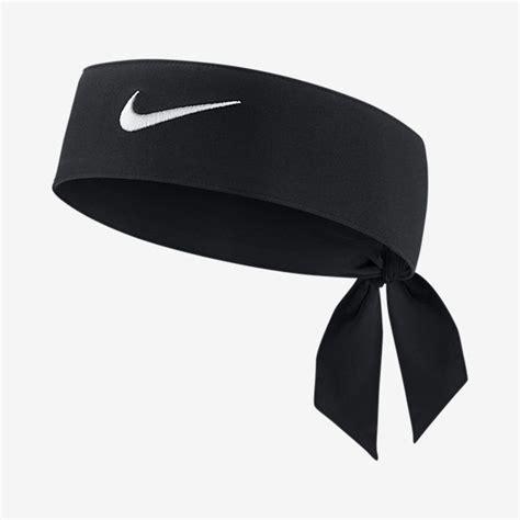 new womens nike tie dri fit 2 0 black headband tennis