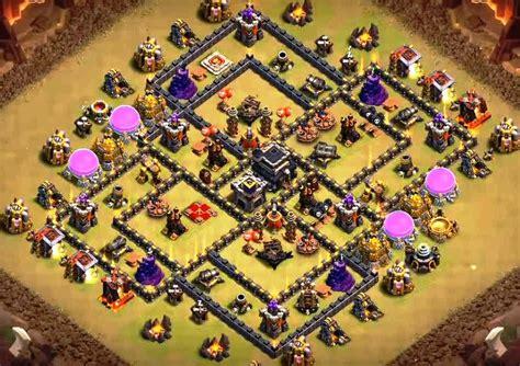 layout coc base war th9 10 best th9 farming base and war base layouts 2017