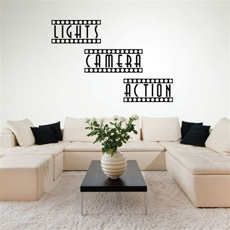 home movie theater wall decor wall decals home theater decor theater room movie room