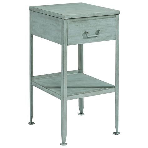 Small Metal Accent Table Magnolia Home By Joanna Gaines Accent Elements Small Metal End Table With Drawer And Storage